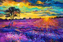 Lavender in art