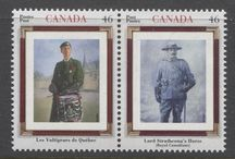 The Military on Stamps / The military as depicted on Canadian stamps