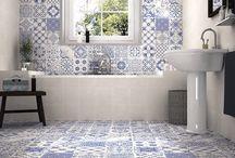 Marockanskt kakel till badrum (Marrakech tile bathroom) / Funderar du över att inreda badrummet i en sydeuropeisk eller marockansk stil? Har hittar du inspiration och idéer.