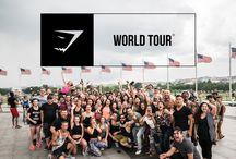 world tours / An unforgettable time, looking back on thousands of miles traveled to meet the Gymshark family.