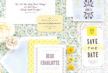 Invites: Florals / Floral prints used in wedding Invitations and stationery design.