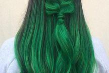 зелено