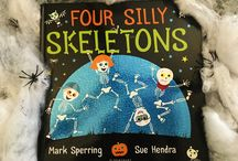 Four Silly Skeletons / Four Silly Skeletons is a rib-tickling picture book from Mark Sperring and Sue Hendra