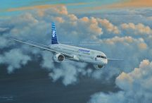 Traveling Above Clouds / Commercial airplanes heading to far away destinations throughout the 20th century...