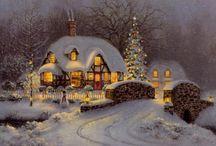 Diverse julebilder og tekster