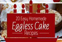 home made eggless cake