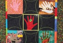 Group Quilts / This board features group quilts made by Young Quilters and visitors to the Quilt Museum and Gallery - all part of The Quilters' Guild