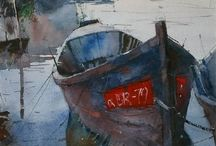 Watercolors - Boats / by Carol Ann Simmonds
