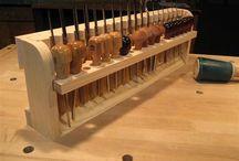 Wood chisel storage