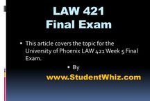 LAW 421 Final Exam / Are you preparing for Law 421 Final Exam? Do you feel that you are not polished enough to pass the first time out? Are you confused about the question pattern? If you are going to pay attention to the bellow information, you will have a clear change of succeeding.