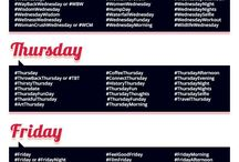 Social Media Tips - Hashtags for Everyday of the Week