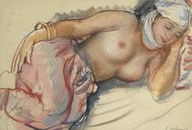 nu pastel sec - Nude Pastel / Des nus artistiques réalisés au pastel sec.