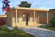 Wooden Garden Offices / if you are looking for a wooden garden office, interlocking log cabin office, then please give visit www.logcabins.lv or email us at enquiries@logcabins.lv