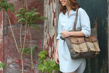 Mona B Fall 2015 Handbags / Our up-cycled tote bags are stolen from the Mona B vault, crafted with rugged lines, a durable base and carry straps made from genuine leather.  Lined interior with slip pockets for a finished, everyday look.