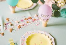 Ice Cream Party / Ice cream party ideas including decorations, favors and invitations