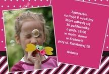 Zaproszenia / Invitations / Zaproszenia na urodziny, chrzest, roczek i wiele innych okazji :)