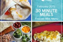 30 Minute Meals Mini Menu February 2015 / From your fridge to the table in just 30 minutes or less these quick and easy dinners help make homemade meals possible on the busiest nights of the week.  / by Once A Month Meals