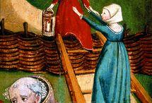 medieval wood paintings