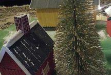 Joulu Christmas / Pienoisrautatie Miniatyre railwaystation