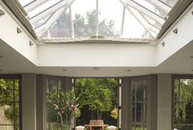Kitchen Extensions: Just Roof Lanterns / A collection of images of roof lanterns above a kitchen