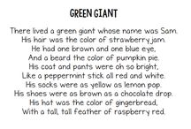 poem green giant