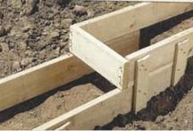 concrete footing and forms