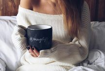 Lazy mornings...♡ / Tea, book, bed, chill ...♡