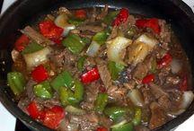 Easy recipes / Mom's Pepper Steak