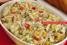 salada d batata e acelga