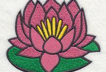 flower emboidery