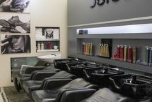 Shelving for hair salons
