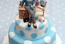 Lady and men cakes