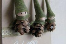 Vianocne ozdoby  zo šišiek