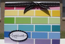 Cardmaking - Made from Paint Chips