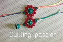 quilled rakhi