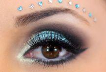 maquiagem azul arte