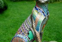 esculturas de mosaico