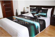 Pestré realistické prikrývky na posteľ / Prikrývky na posteľ s realistickou potlačou