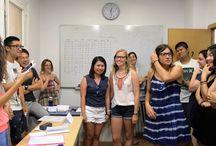 Trivial Internacional Julio de 2016 / A finales de Julio de 2016 realizamos el Juego de Trivial con los alumnos de español para extranjeros.