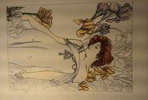 disegno libero / si tratta d'una bacheche dovi vi saranno illustrati diversi disegni.