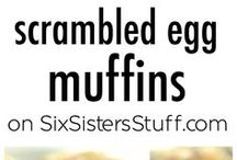 Scrambled eggs muffins