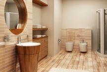 In the bathroom / Ancienne ou moderne, dans des tons chauds, je la veux fonctionnelle et belle à la fois. Calme, sérénité, douceur, c'est le moment zen de la journée.