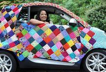 YARN BOMBING / Yarn Bombing, Public Art, Public Craft, Knitting, DIY, Fun, Design,Wool