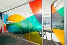 Grafik på vægge / Grafiske løsninger til vægge / kontor