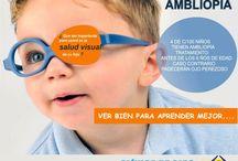 Ojo Vago / AMBLIOPIA Ojo vago, ojo perezoso, ojo ocioso son sinónimos de Ambliopía. Es el ojo que no aprendió a ver por falta de uso, es decir no fue detectado a tiempo y por ende ese ojo no aprendió a ver; porque el ojo humano aprende a ver hasta los 6 años de edad. Por ello es imprescindible el examen anual a los niños desde su nacimiento. www.clinicadeojos.com.pe  / by Clinica De Ojos Oftalmic Laser
