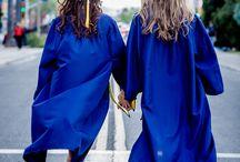 couple graduation photos