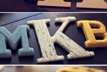 Decorate wooden letters