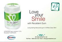 GC #RECALDENT GUM / Recaldent ® sugar free gum is recommended for patients with increased risk of caries or erosion.