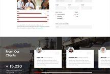 Logistic&Cargo - Websites/Landing page / Good webdesign work in the field Logistic and Cargo / Хорошие дизайнерские работы в сфере Логистики и Доставки