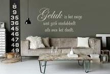 De D staat voor Decoratie  / Muurstickers, behang, decoratie, foto's, wonen